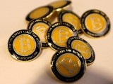 bitcoin-com-buttons-are-seen-displayed-on-the-floor-of-the-consensus-2018-blockchain-technology-conference-in-new-york-city