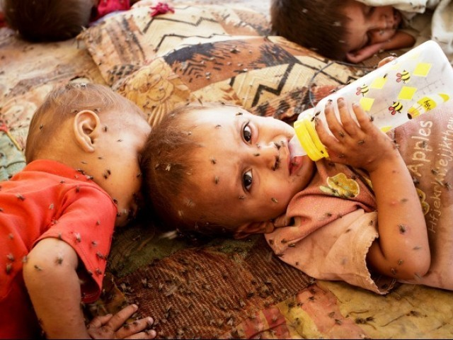 Gastric illnesses in children increasing. PHOTO: AFP