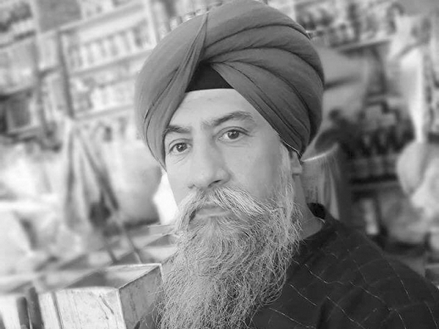 Charanjit Singh, like some others in his community, had migrated to the provincial capital in the early 1970's for business  PHOTO: EXPRESS