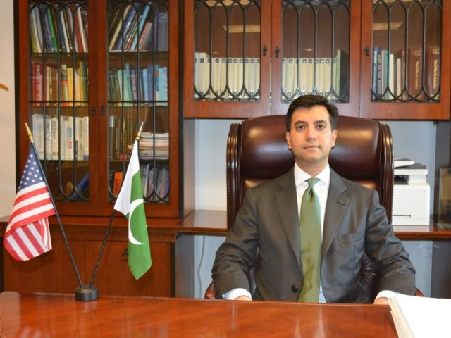 Ali Jahangir Siddiqui assumes charge as Pakistan's envoy to US. PHOTO: EXPRESS