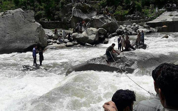 20 tourists swept away in Neelum Valley bridge collapse