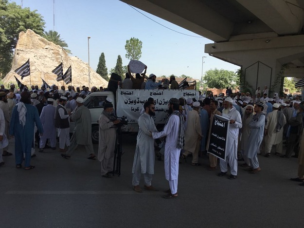 JUI-F protesters. PHOTO: EXPRESS