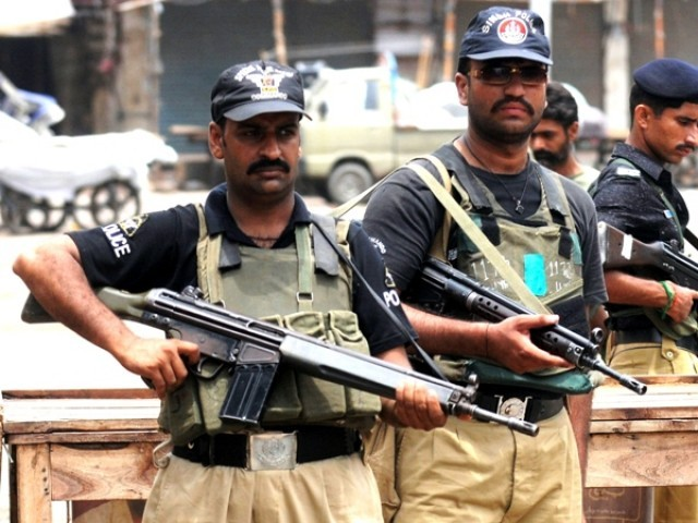 Sindh police. PHOTO: AFP