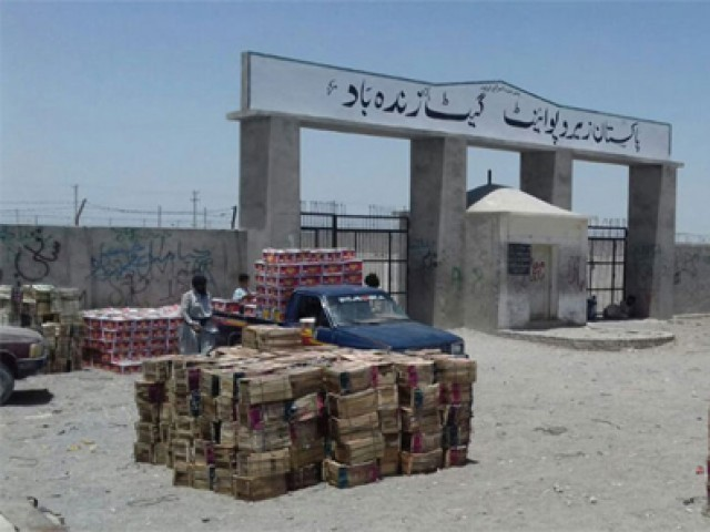 A view of the Pak-Iran Zero Point trade gate. PHOTO: FILE
