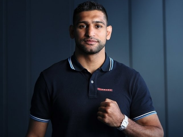 Amir Khan reportedly caught on a private dating app