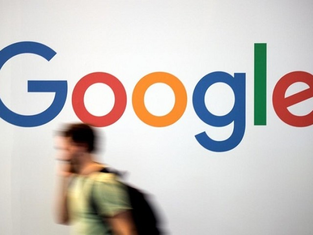 The logo of Google is pictured during the Viva Tech start-up and technology summit in Paris, France, May 25, 2018. PHOTO: REUTERS