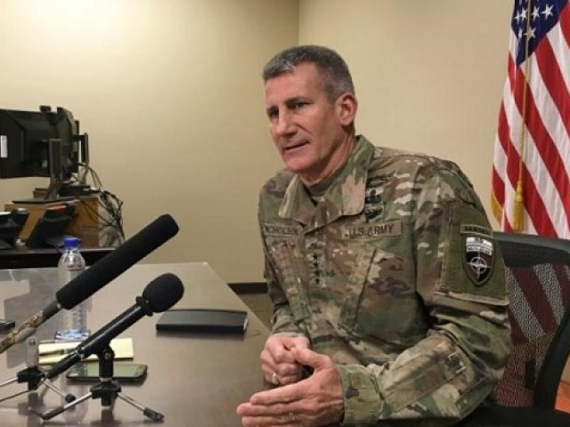 We are in the middle of a new offensive against ISIS in Nangarhar says General John Nicholson