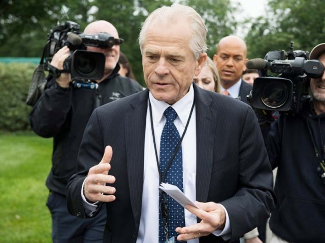 Peter Navarro is briefing media persons. PHOTO: AFP/FILE