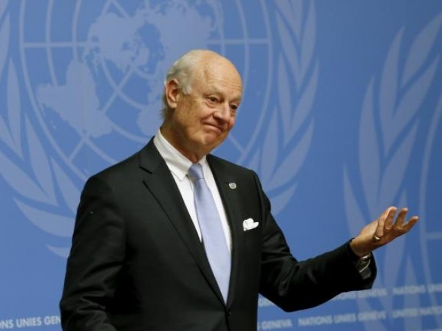 Staffan De Mistura is tasked with picking membership of the committee, which will rewrite the Syrian constitution. PHOTO: AFP/FILE