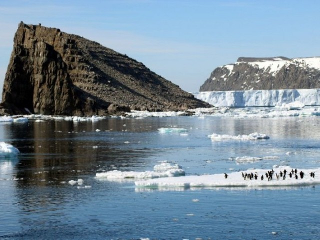Antarctic ice melting faster