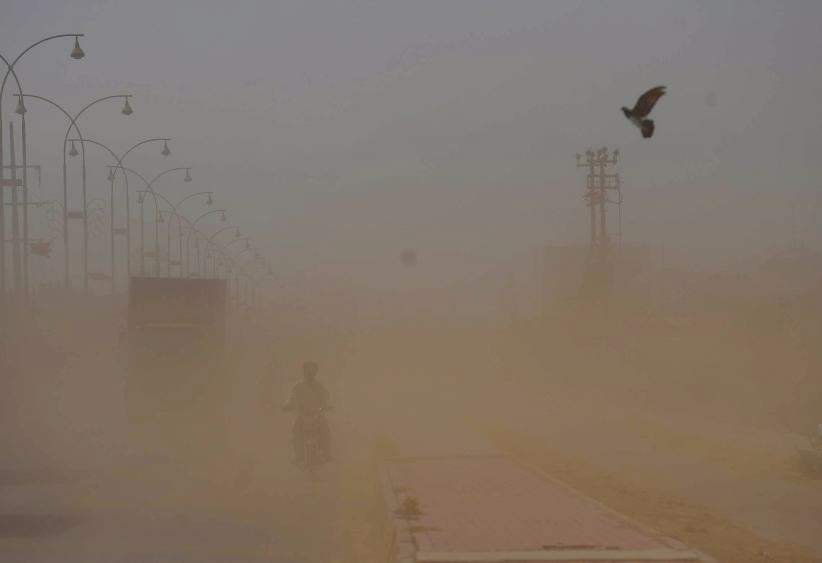 Indian capital hit by dust storms. PHOTO: EXPRESS/FILE