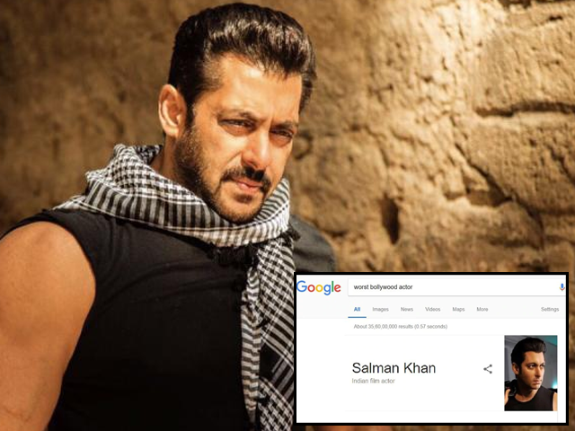Twitter loses its cool after Google terms Salman Khan as 'worst Bollywood actor'