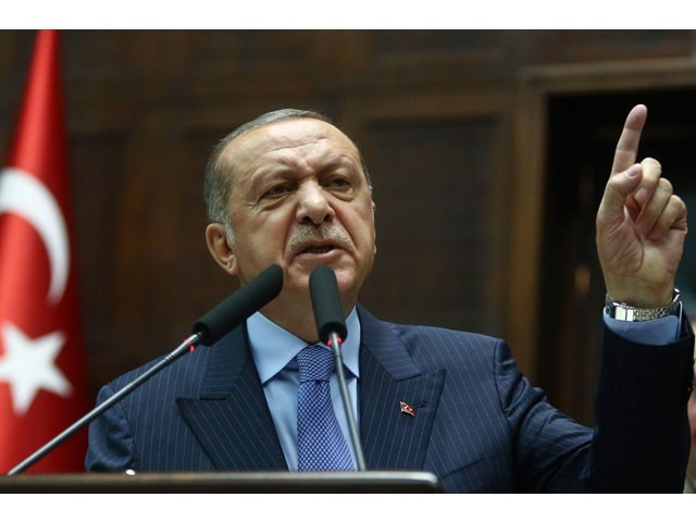 President of Turkey and the leader of the Justice and Development Party (AK Party) Recep Tayyip Erdogan. PHOTO: AFP