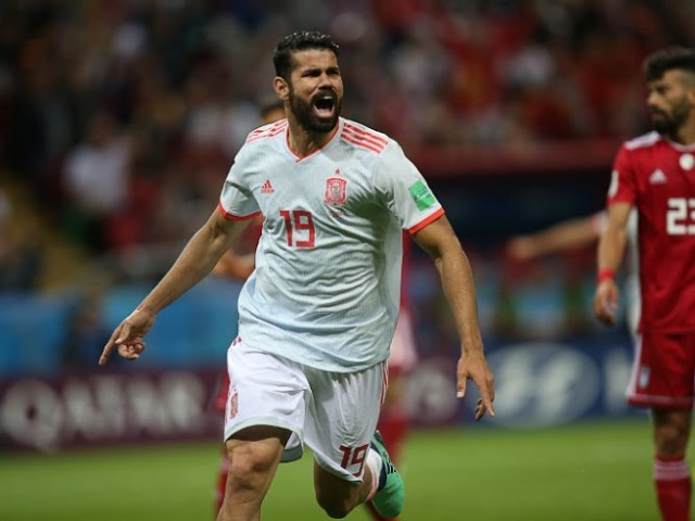 Golden boot rival: Costa now has three goals to his name in two games, making him Cristiano Ronaldo's biggest realistic rival for the golden boot at this early stage. PHOTO: AFP