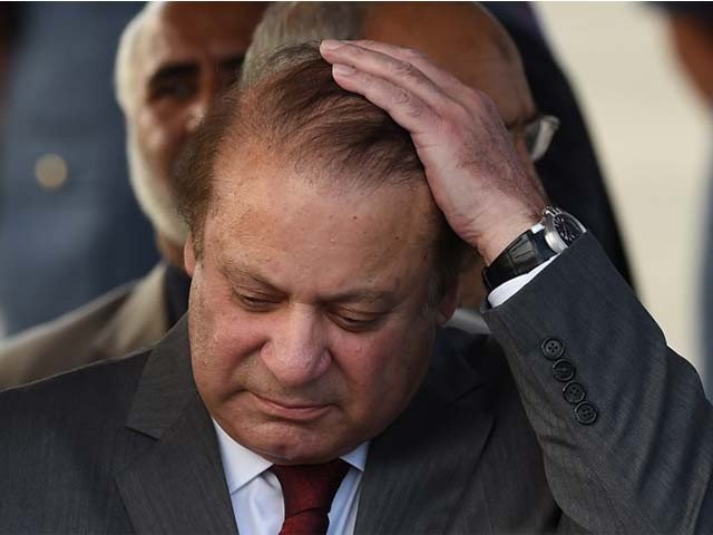 Deposed prime minister Nawaz Sharif. PHOTO: AFP/FILE