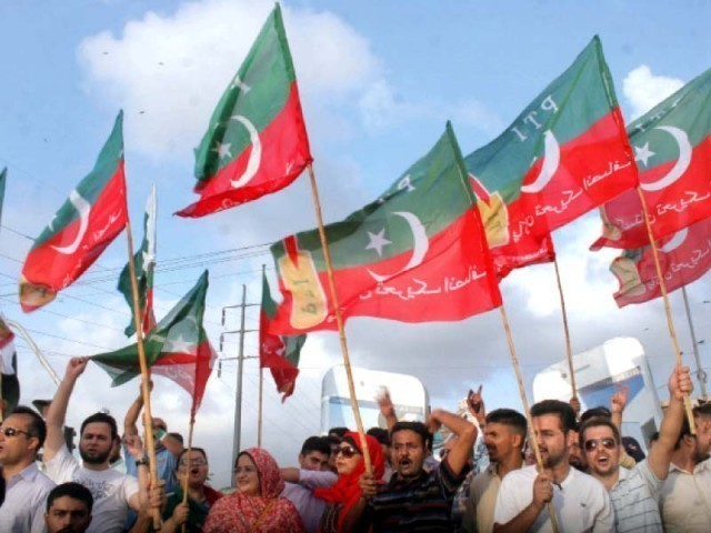 PTI to kick-start election campaign from Mianwali. PHOTO: ATHAR KHAN/EXPRESS