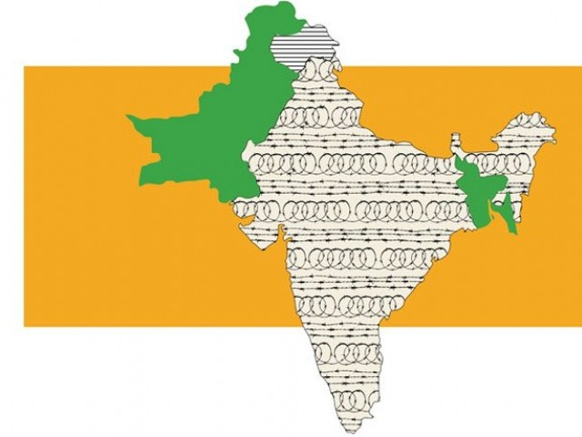 A map of India, East and West Pakistan. PHOTO: EXPRESS/ DESIGN IBRAHIM YAHYA