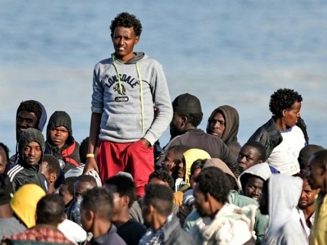 "The Medecins Sans Frontieres charity denounced the EU's new migration deal as ""dehumanising people in need"". PHOTO: AFP"