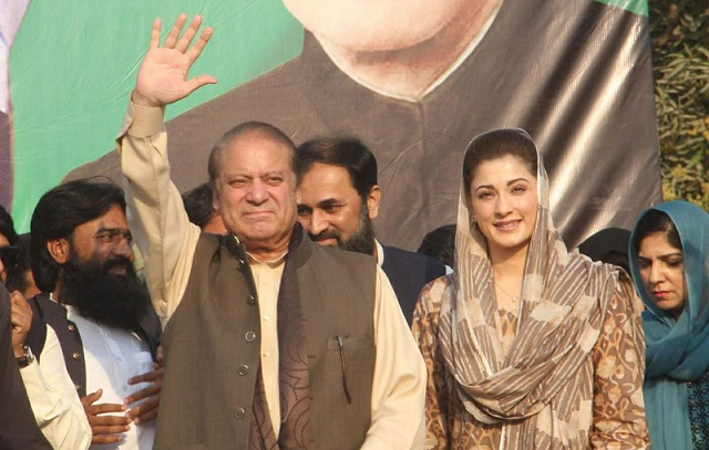 Deposed prime minister Nawaz Sharif and Maryam Nawaz PHOTO: FILE