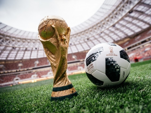 15 2017 and provided by Adidas shows the official match ball for the 2018 World Cup football tournament named