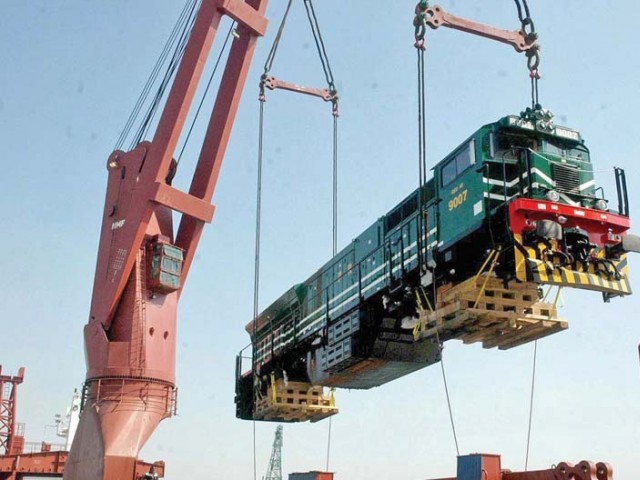 Locomotives being transported. PHOTO: APP.