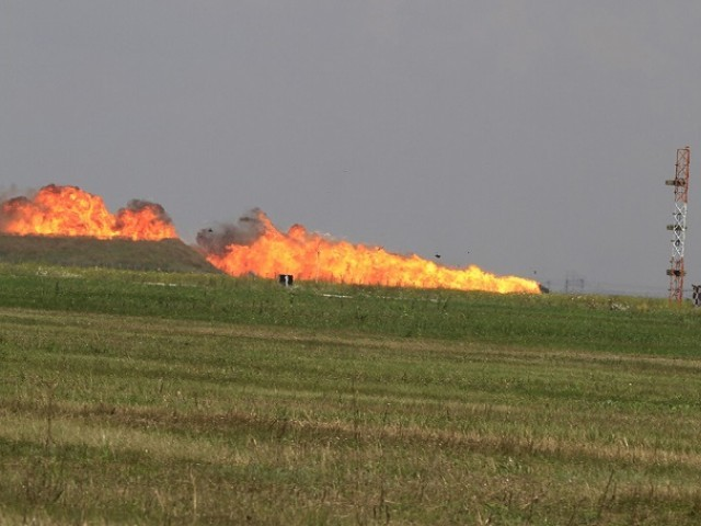 Television reports quoted witnesses as saying the pilot might have tried to avoid hitting the crowds and instead chose to crash on a nearby field. PHOTO COURTESY: THE AVIATIONIST