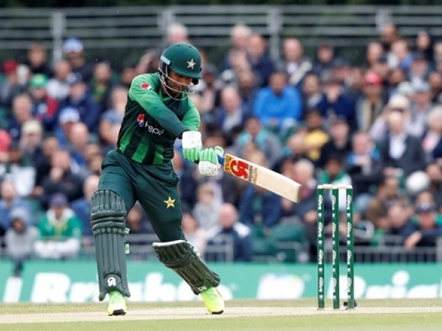 Fakhar Zaman scored 91 runs off 46 balls in the final of the T20I Tri-Series against Australia. PHOTO: AFP