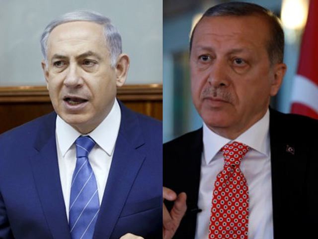 Turkey and Israel once had a bedrock security partnership. But the relationship has deteriorated over the last decade, with Ankara condemning three Israeli wars in Gaza. Ties were ruptured after Israeli commandos stormed a Turkish aid flotilla trying to reach Gaza in 2010, killing nine activists. PHOTO: AFP