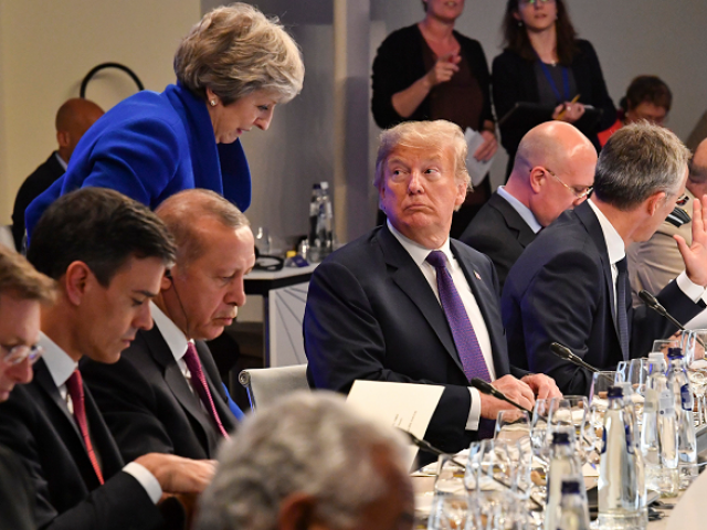 Trump heads to Britain on Thursday, where the government is in crisis over Brexit.  PHOTO:AFP