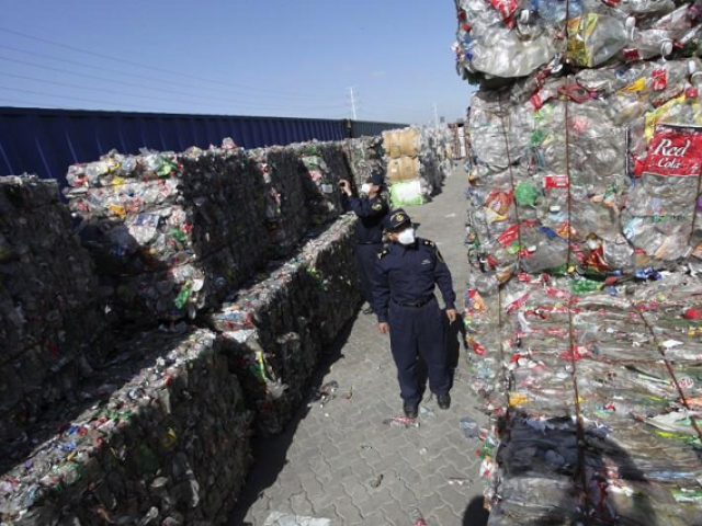Government has sought to relinquish its role as the world's biggest recipient of waste as it bids to curb pollution and move up the global supply chain.  PHOTO:REUTERS