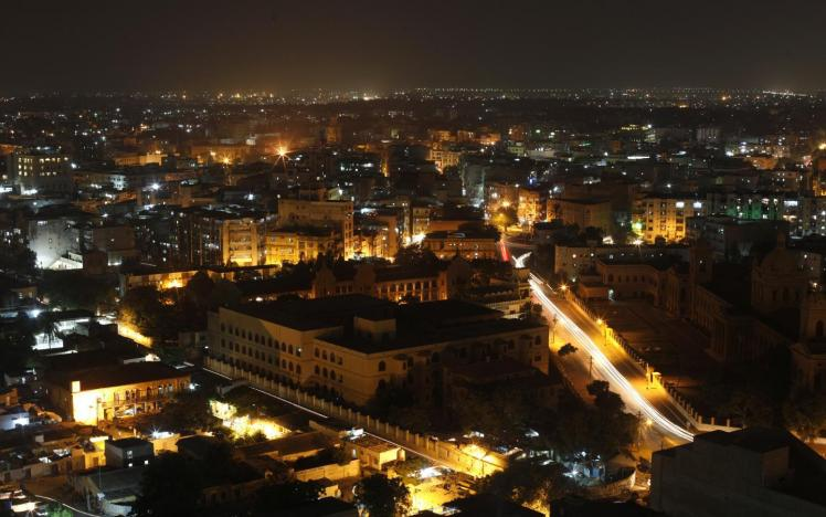 Skyline image of Karachi city at night. PHOTO: REUTERS