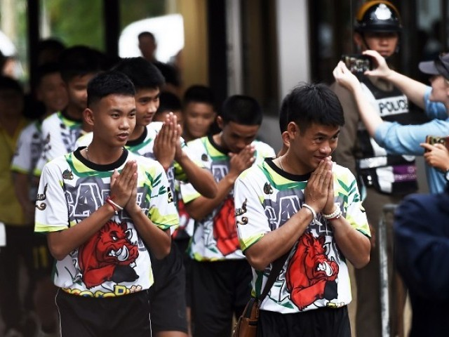 Rescued cave Thai boys to address media for the first time