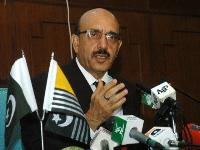 Azad Jammu and Kashmir (AJK) President Sardar Masood Khan.  PHOTO: EXPRESS/FILE