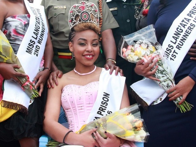 This picture taken on August 30, 2016 shows Ruth Kamande after having been crowned 'Miss Lang'ata Women Prison' in Nairobi as she awaited trial for killing her boyfriend in 2015. PHOTO: AFP/ FILE
