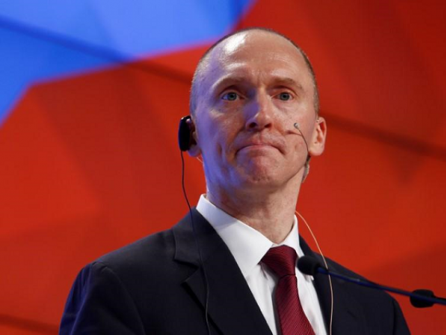 One-time advisor of U.S. president-elect Donald Trump Carter Page addresses the audience during a presentation in Moscow, Russia, December 12, 2016. PHOTO: REUTERS