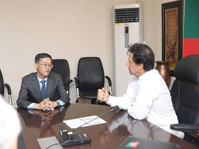 Jing said that by conducting the election the continuity of democracy has been ensured in Pakistan. PHOTO COURTESY: PTI OFFICIAL