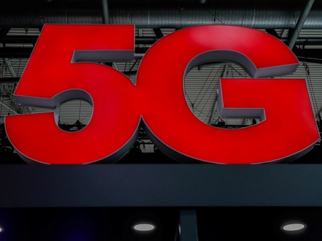 A 5G sign is seen during the Mobile World Congress in Barcelona, Spain February 28, 2018. PHOTO: REUTERS