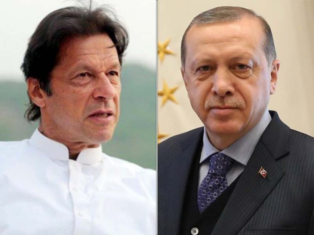 Imran Khan and Recep Tayyip Erdogan. PHOTO: EXPRESS/FILE