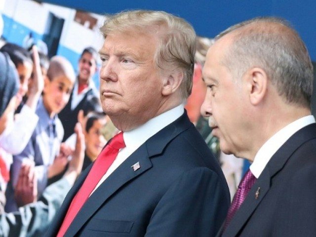 US President Donald Trump and Turkish counterpart Recep Tayyip Erdogan met during a NATO summit in July