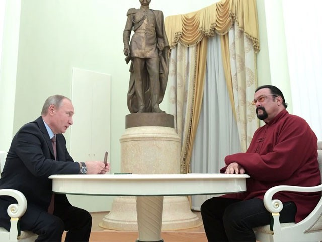 Russia Appoints Actor Steven Seagal to Help With U.S. Diplomatic Relations