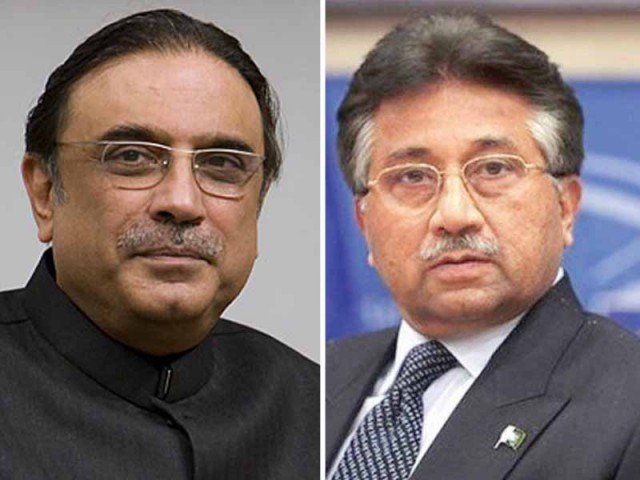 Asif Ali Zardari and General Pervez Musharraf to submit property details along with an affidavit. PHOTO:FILE