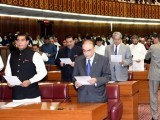 Newly elected MNAs take oath. -APP