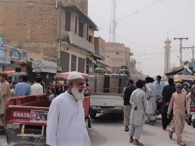 Masjid road area in Nushki where the attack occurred. PHOTO:EXPRESS