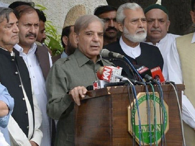 PML-N president also pans 'wheeling and dealing' in assemblies during his media interaction in Lahore on Tuesday. PHOTO: NNI
