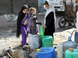 Karachi residents without water for 15 days. PHOTO: EXPRESS