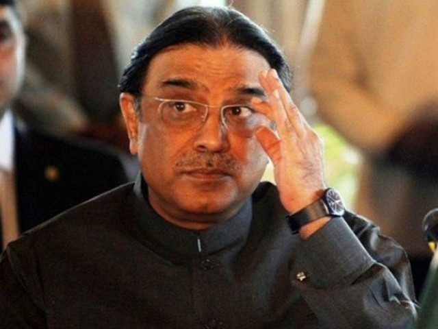 Former president of Pakistan Asif Ali Zardari. PHOTO: EXPRESS/FILE