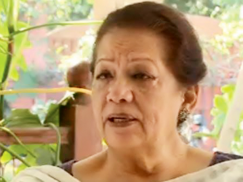 Zahra Shahid was shot dead outside her house in Defence in May 2013. PHOTO: EXPRESS
