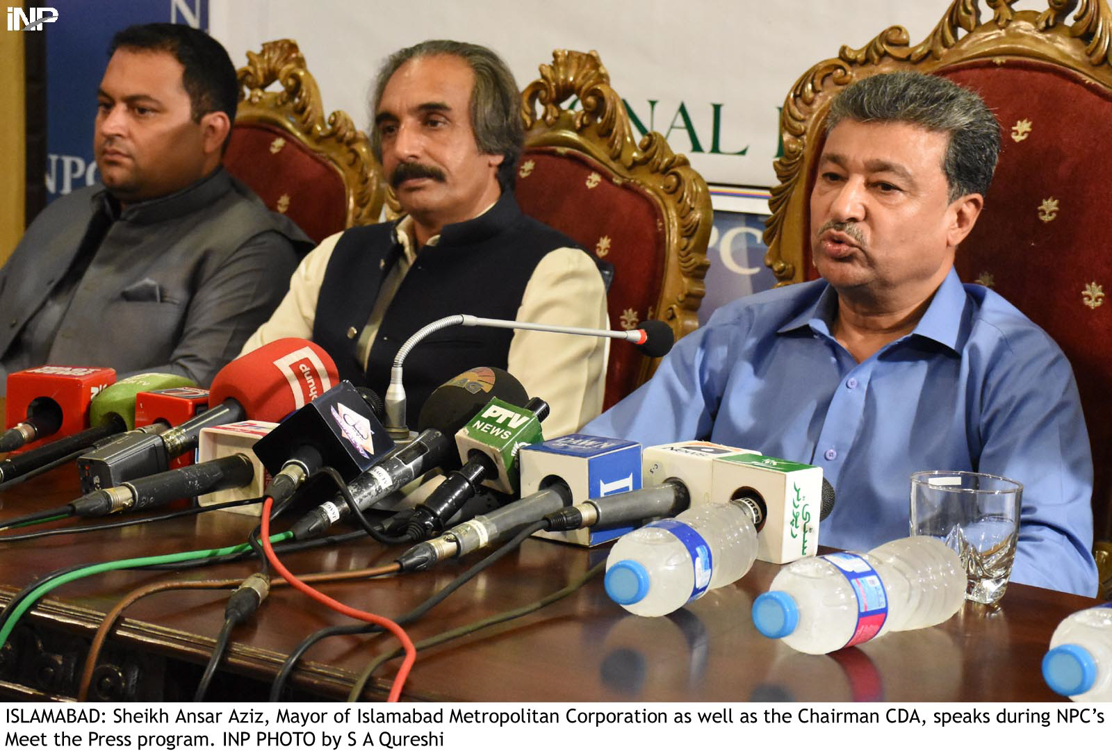 Mayor of Islamabad and Chairman Capital Development Authority (CDA) Sheikh Anser Aziz. PHOTO: INP