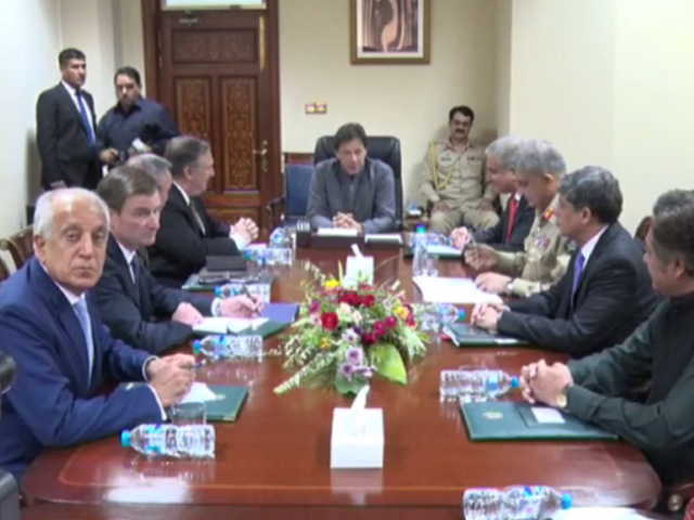PM Imran Khan refuses to give in to every demand by Washington; COAS also attends meeting. SCREENGRAB
