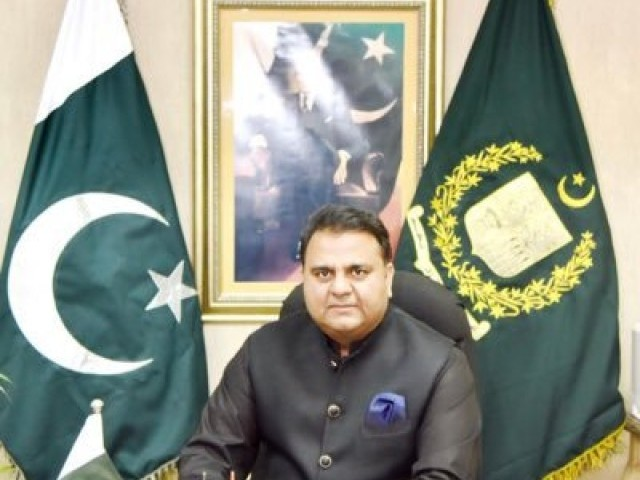 Information Minister Fawad Chaudhry. PHOTO: GOVERNMENT OF PAKISTAN
